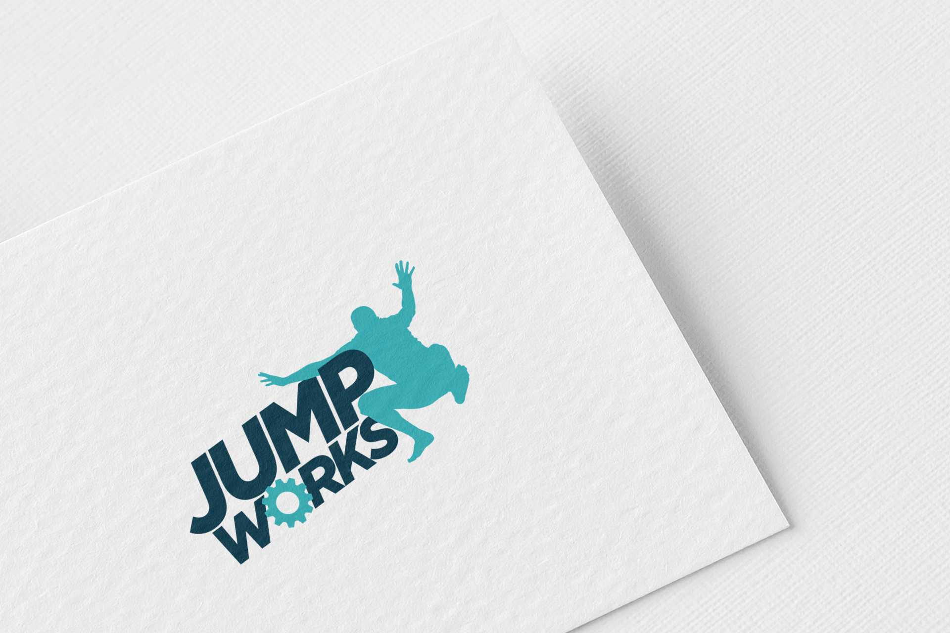 pixel-perfect-warrington-jump-works-logo-design